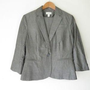 LOFT Pinstripe Capri Pant Suit